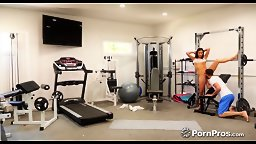 POV Home Gym Sex with Stepdaughter Emily Willis! - HD
