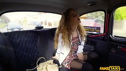 Pervy Curly Haired Teen Beauty Banged In The Taxi - HD